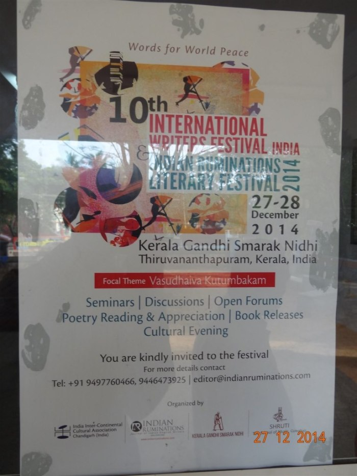Festival poster at the venue.