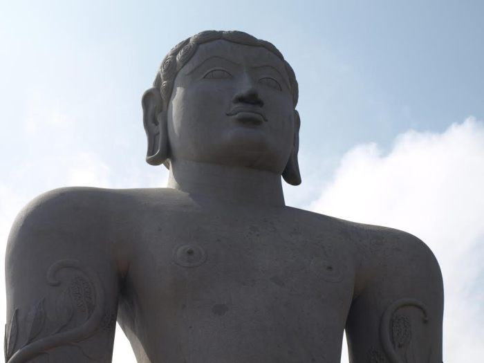 The statue of Gommateshvara Bahubali at Shravanabelagola. Photo by Sharadha NV
