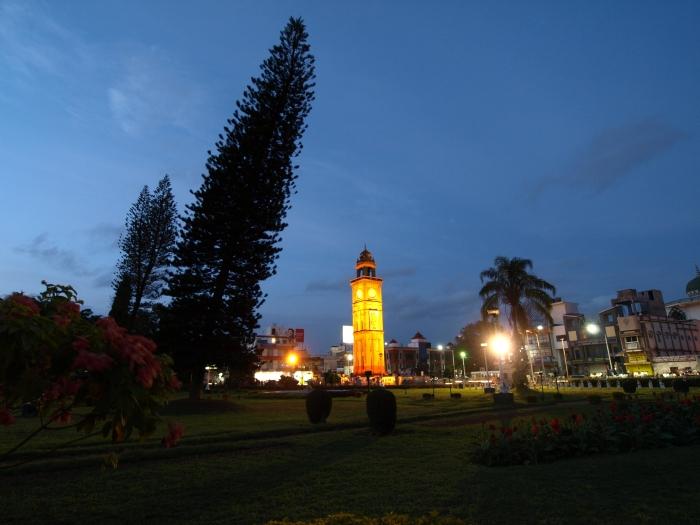 Mysore Clock Tower at dusk