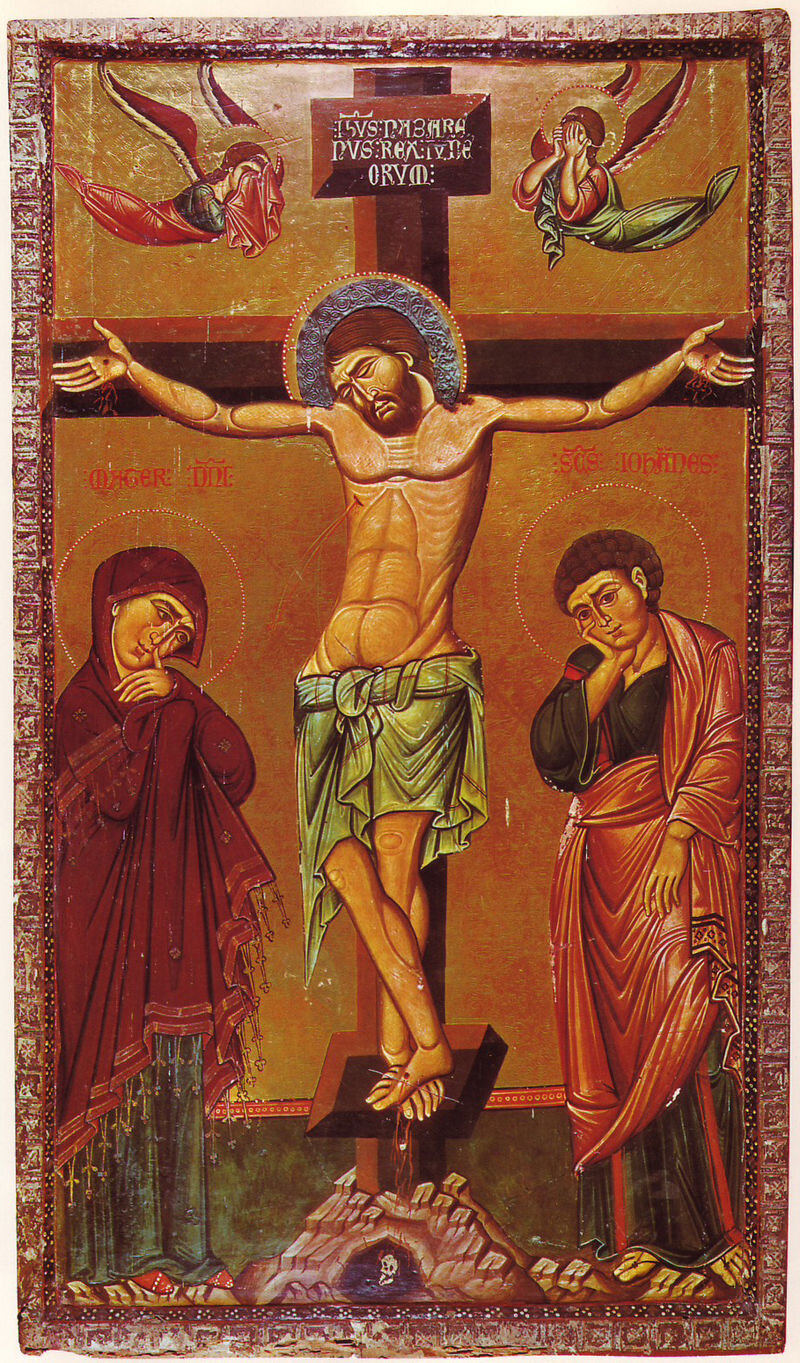The Crucifixion. by unknown author. St. Catherine's Monastery, Sinai